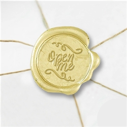 "Self Adhesive Symbol Wax Seal Stickers  1 1/4"" - Open Me"