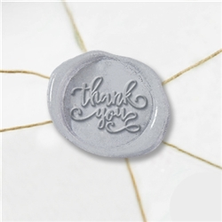 "Self Adhesive Symbol Wax Seal Stickers  1 1/4"" - Thank You"