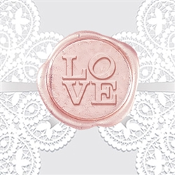 Love Adhesive Wax Seal Stickers - Wedding Symbol