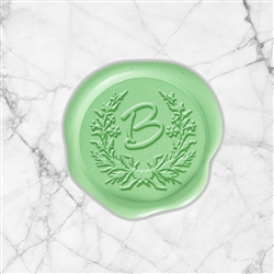 "Angelina Adhesive Wax Seals - 1 1/4"" Single Initial"