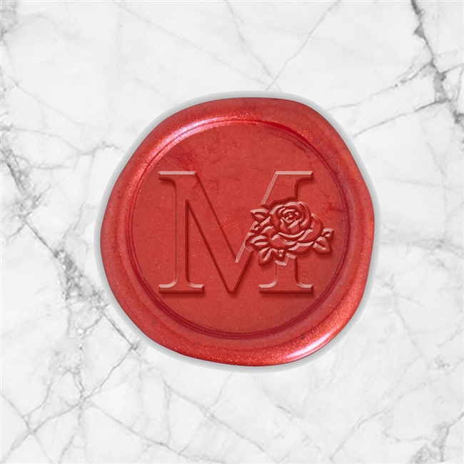 "Times Roman Adhesive Wax Seals - 1 1/4"" Single Initial"