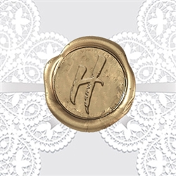 "Brushstroke Adhesive Wax Seals - 1"" Single Initial"