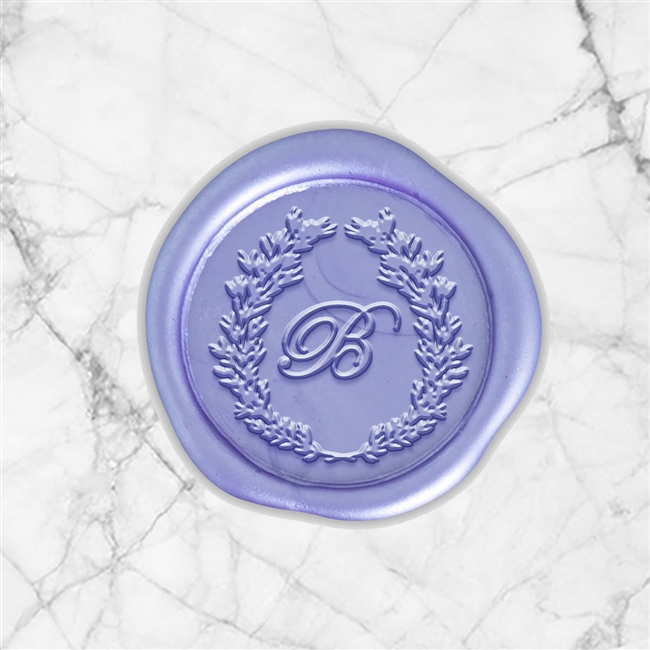 "Edwardian Adhesive Wax Seals - 1 1/4"" Single Initial"