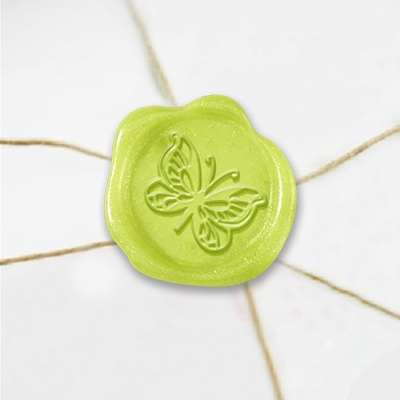 "Self Adhesive Symbol Wax Seal Stickers  1 1/4"" - Butterfly"