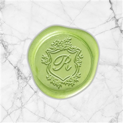 "Shelley Adhesive Wax Seals - 1 1/4"" Single Initial"