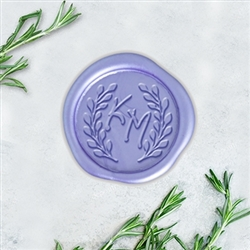 "Ellie Ann with Berry Wreath Adhesive Wax Seals - 1 1/4"" Monogram"