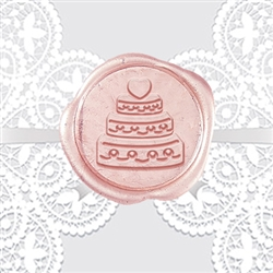 Cake Adhesive Wax Seals - Wedding Symbol