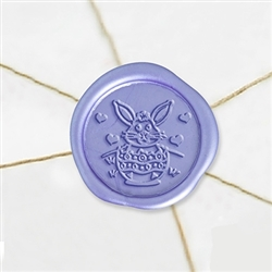 "Self Adhesive Symbol Wax Seal Stickers  1 1/4"" - Easter Bunny"