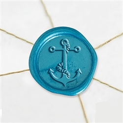 "Self Adhesive Symbol Wax Seal Stickers  1 1/4"" - Anchor"