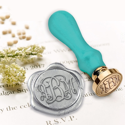 "Wedding Custom Wax Seal Stamps  1"" Die-Monograms"