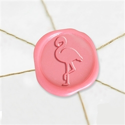 "Self Adhesive Symbol Wax Seal Stickers  1 1/4"" - Flamingo"