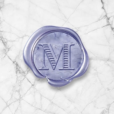 "Chevalier Adhesive Wax Seals - 1"" Single Initial"