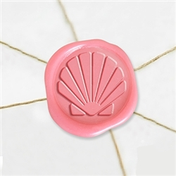 "Self Adhesive Symbol Wax Seal Stickers  1 1/4"" - Shell"