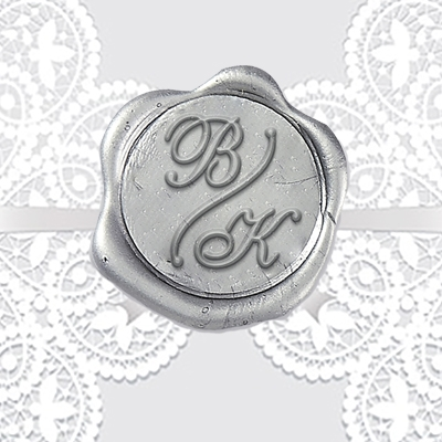 "Shelley with Divider Adhesive Wax Seals - 1 1/4"" Monogram"
