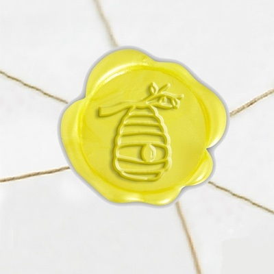 "Self Adhesive Symbol Wax Seal Stickers  1 1/4"" - Beehive"