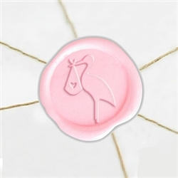 "Self Adhesive Symbol Wax Seal Stickers  1 1/4"" - Stork"
