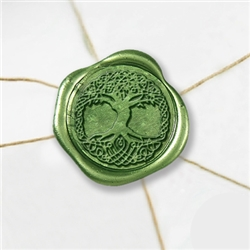 "Self Adhesive Symbol Wax Seal Stickers  1 1/4"" - Celtic Tree"