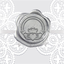 Claddagh 2 Adhesive Wax Seals - Wedding Symbol
