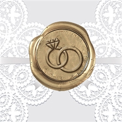 Wedding Rings Adhesive Wax Seals - Wedding Symbol