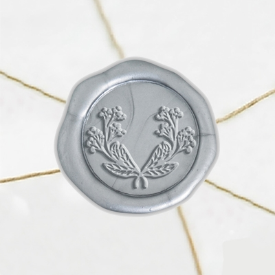 "Self Adhesive Symbol Wax Seal Stickers  1 1/4"" - Wreath 4"