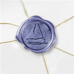 "Self Adhesive Symbol Wax Seal Stickers  1 1/4"" - Sailboat"