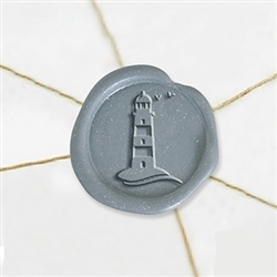 "Self Adhesive Symbol Wax Seal Stickers  1 1/4"" - Lighthouse"