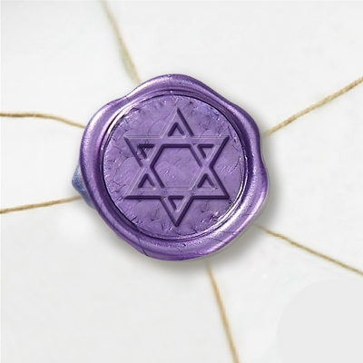 "Self Adhesive Symbol Wax Seal Stickers  1 1/4"" - Star of David"