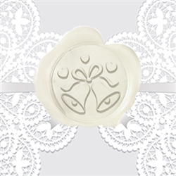 Wedding Bells Adhesive Wax Seals - Wedding Symbol