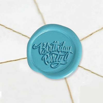 "Self Adhesive Symbol Wax Seal Stickers  1 1/4"" - Birthday Party"