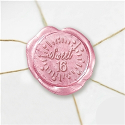 "Self Adhesive Symbol Wax Seal Stickers  1 1/4"" - Sweet 16"