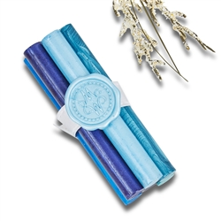 Premium Glue Gun Sealing Wax Sticks-3 per pack-Blue  Shades