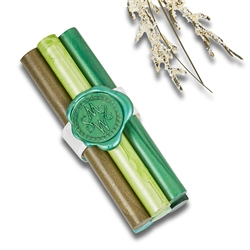 Premium Glue Gun Sealing Wax Sticks-3 per pack-Green Shades