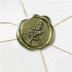 "Self Adhesive Symbol Wax Seal Stickers  1 1/4"" - Rosemary"