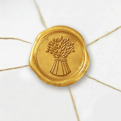 "Self Adhesive Symbol Wax Seal Stickers  1 1/4"" - Wheat"