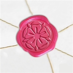"Self Adhesive Symbol Wax Seal Stickers  1 1/4"" - Tudor Rose"