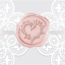 Olive Branch Heart Adhesive Wax Seals - Symbol