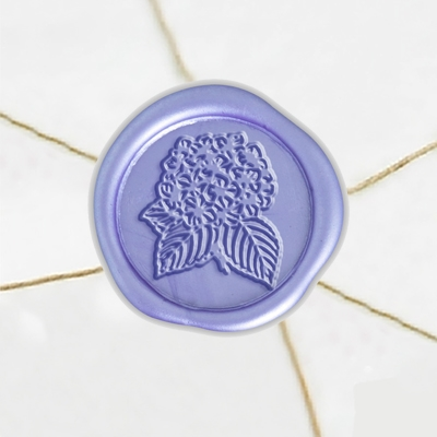 "Self Adhesive Symbol Wax Seal Stickers  1 1/4"" - Hydrangea"