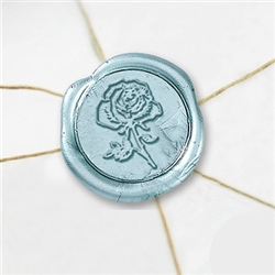 "Self Adhesive Symbol Wax Seal Stickers  1 1/4"" - Rose"
