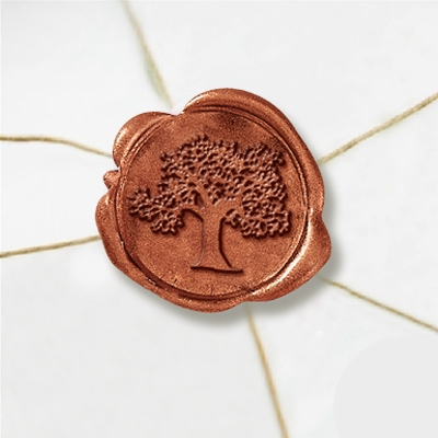 "Self Adhesive Symbol Wax Seal Stickers  1 1/4"" - Tree"