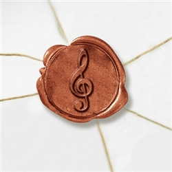 "Self Adhesive Symbol Wax Seal Stickers  1 1/4"" - Musical Note"