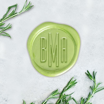 "Empire Font Adhesive Wax Seals - 1 1/4"" Monogram"