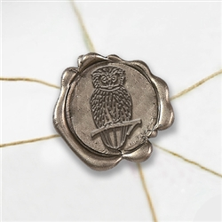 "Self Adhesive Symbol Wax Seal Stickers  1 1/4"" - Hedwig Owl"