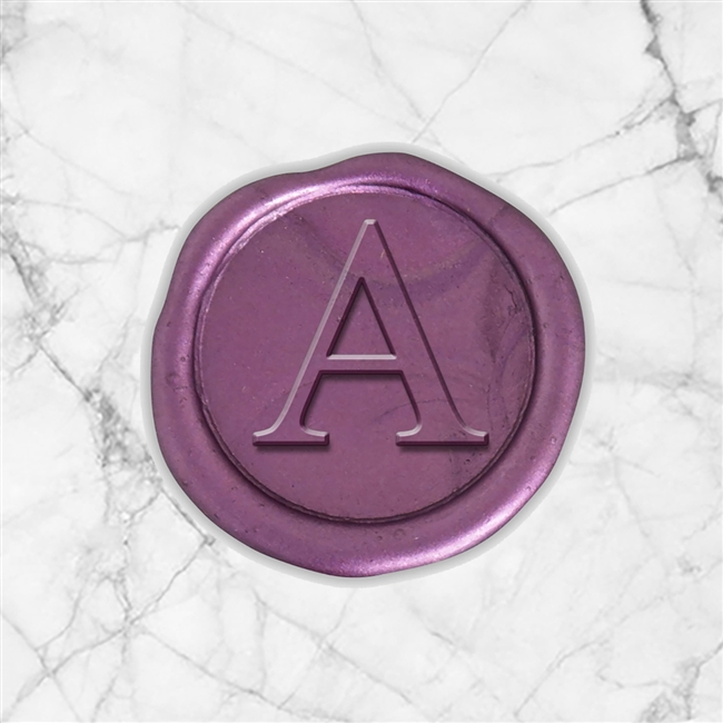 "Times Roman Adhesive Wax Seals - 1"" Single Initial"