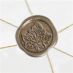 "Self Adhesive Symbol Wax Seal Stickers  1 1/4"" - Leaf"