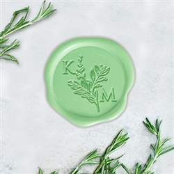 "Optimus Princeps & Sage Adhesive Wax Seals - 1 1/4"" Monogram"