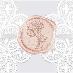 Wedding Bouquet Adhesive Wax Seals - Symbol
