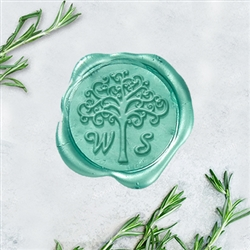 "Amazone Font Family Tree Adhesive Wax Seals - 1 1/4"" Monogram"