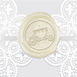 Carriage Coach Adhesive Wax Seals - Wedding Symbol