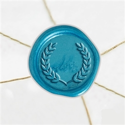 "Self Adhesive Symbol Wax Seal Stickers  1 1/4"" - Laurel 2"