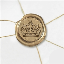 "Self Adhesive Symbol Wax Seal Stickers  1 1/4"" - King's Crown"